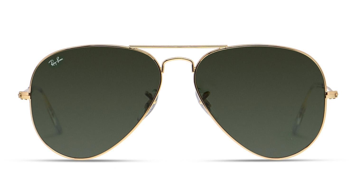 ray ban aviator 3025 gold frame green lens