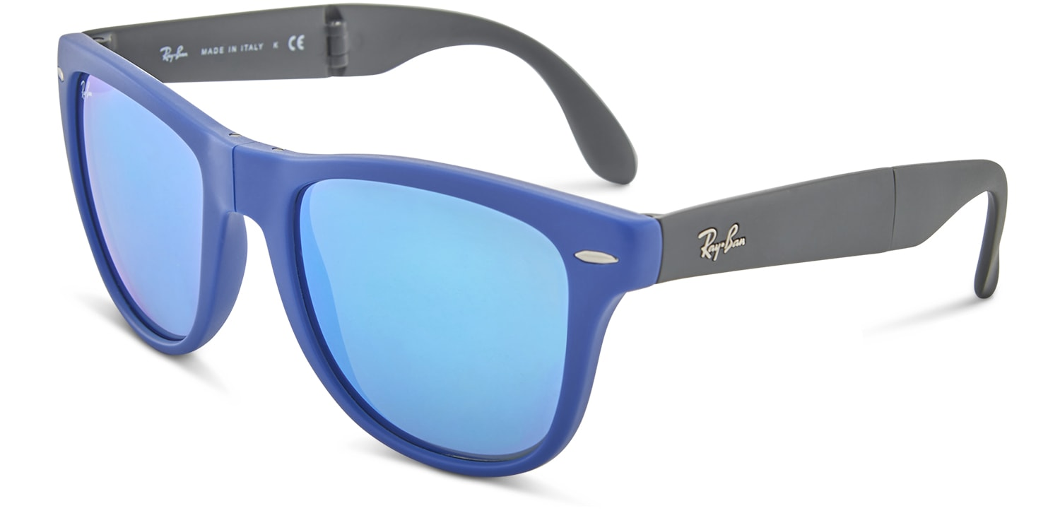 4ebc94410a89b ... 4105 Folding Wayfarer Large Blue. Try On. Premium. Ray-Ban. Rollover  for more angles