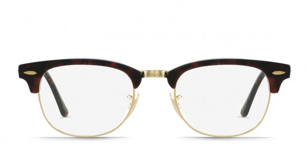 ray ban clubmaster gold